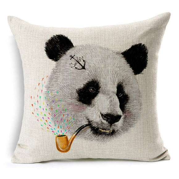 Coussin Panda <br> Pipe Multicouleur - Royaume Panda