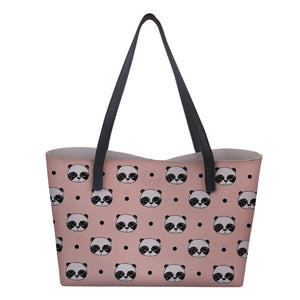 Sac à Main Panda <br> Symétrie Kawaii Rose - Royaume Panda
