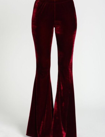 Crown Jewel- Velvet High Waist Bell Bottoms