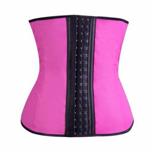 Latex waist trainer with steel boning