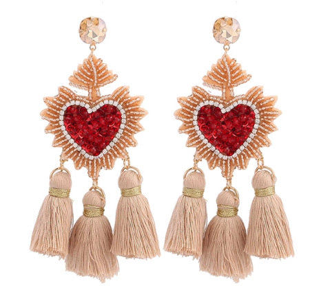 My Love Fringed Danglers