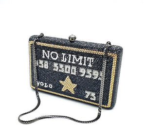 No Limit Rhinestone Clutch