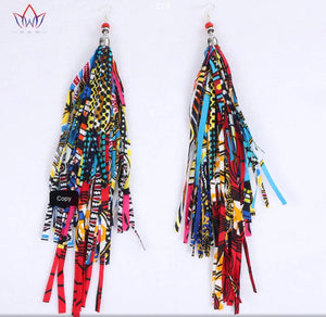Multi-Colored Fringe Danglers