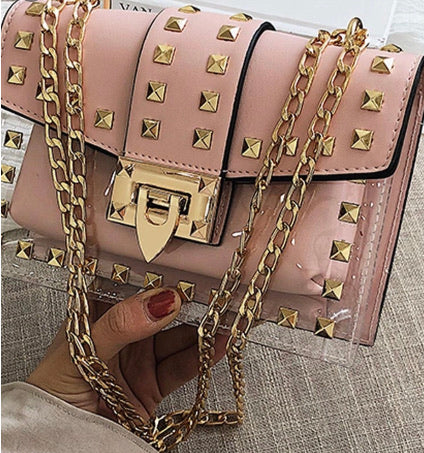 Gold Studded Chained Handbag