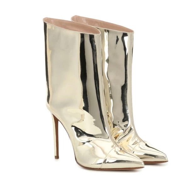 Shine On Me Low Calf Boots
