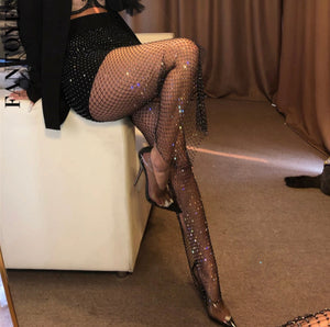 Sheer Fishnet Leg Wear