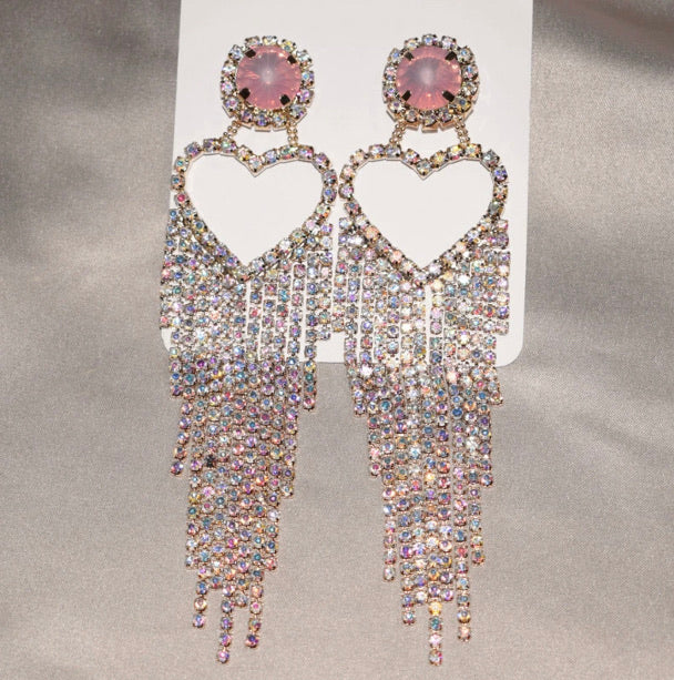 Cross My Heart Rhinestone Danglers