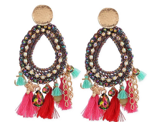 Over Me Fringed Danglers
