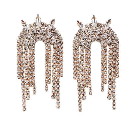 Rock With Me Studded Danglers