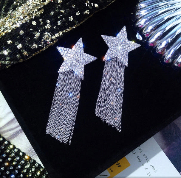 Star & Fringe Danglers