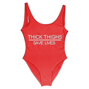 Thick Thighs Save Lives Swimsuit