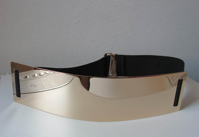 Gold Metal Plate Belt