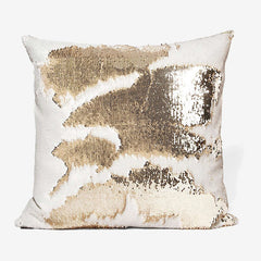 Mermaid Sequin Pillow - White Gold