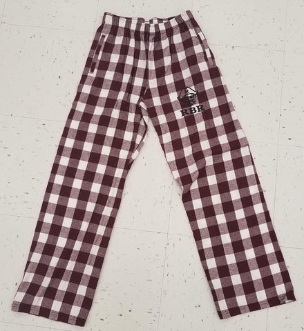 Maroon Plaid Lounge Pants with Pockets