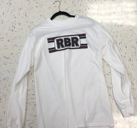 White Long Sleeve swinging 70's retro design