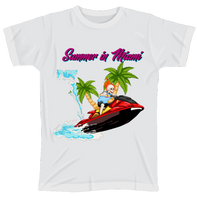 Summer in Miami Tee (white)