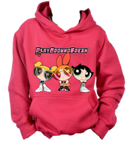 PowerPuff Youth Hoodie(Hot Pink)