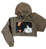 Selena Cropped Hoodie(Color Safari)(cropped from unisex size hoodies)