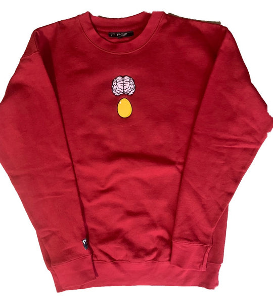 BrAiN ON DrugS Crewneck(Cardinal)
