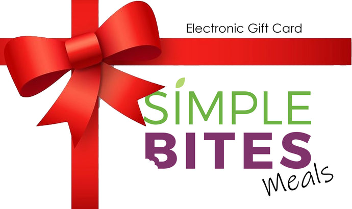 Simple Bites Meals Gift Card
