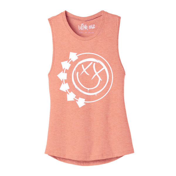ARROW SMILEY PEACH LADIES MUSCLE TANK*