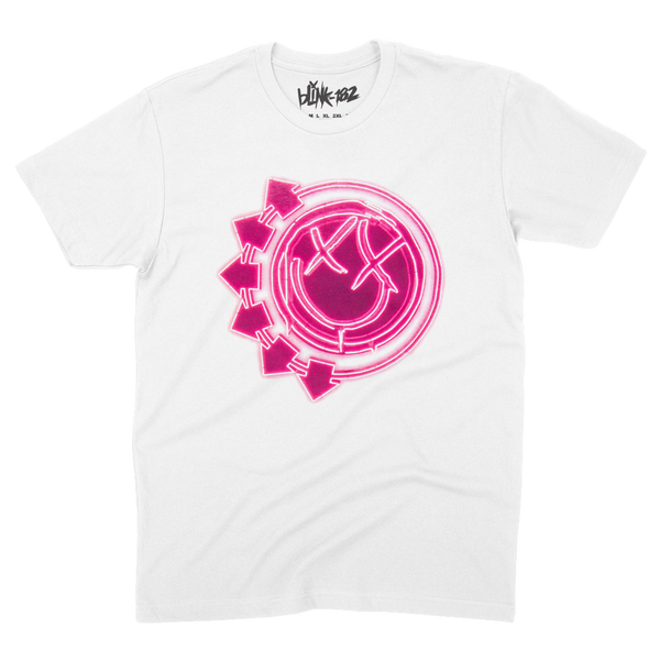 NEON ARROW SMILEY WHITE TEE XX-LARGE