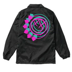 Arrow Smiley 3D Logo Black Coaches Jacket