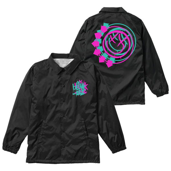 Black Coaches jacket front and back print.