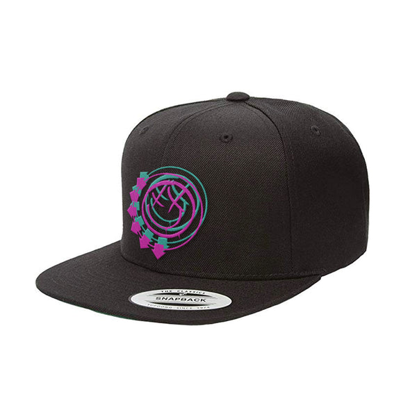 Black Snapback arrow logo hat