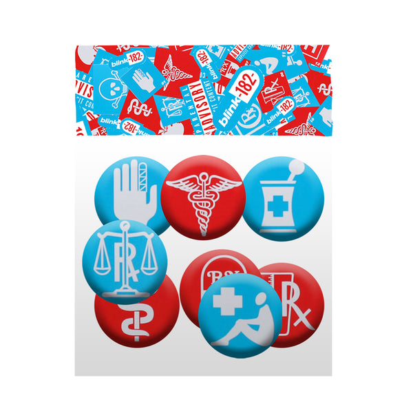 Collage Button Pack (8 pcs)