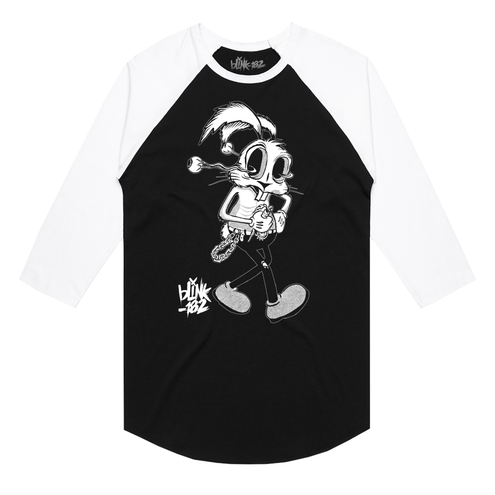 FLOPPY EYEBALL BUNNY BLACK RAGLAN | Blink 182 US