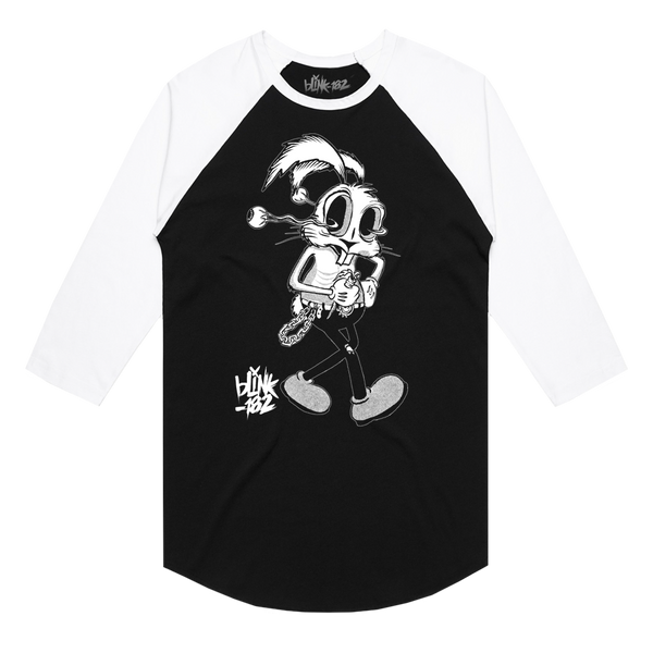 FLOPPY EYEBALL BUNNY BLACK RAGLAN