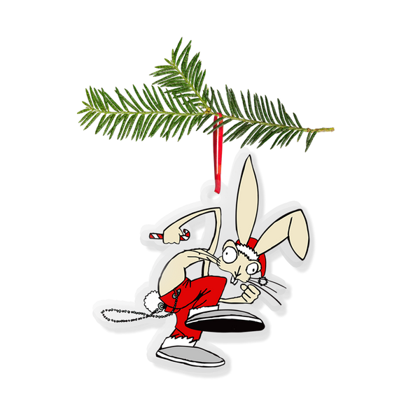 HOLIDAY BUNNY ORNAMENT