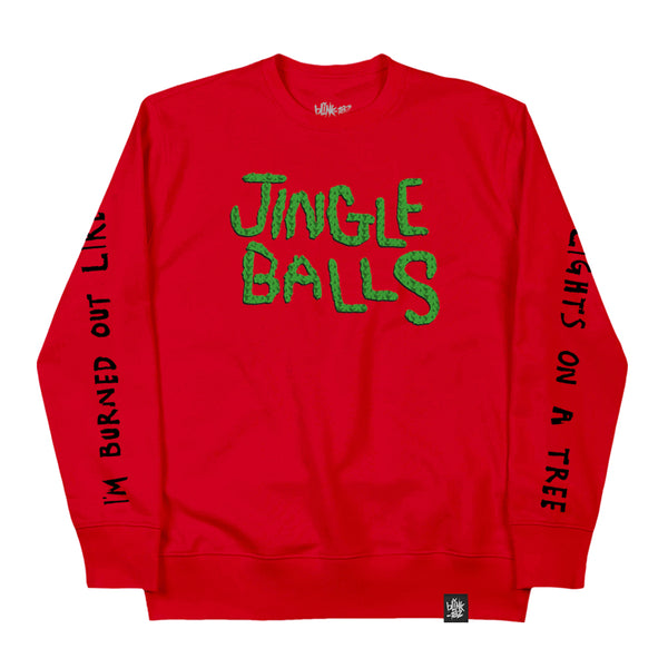 Jingle Balls Red Crewneck Sweatshirt