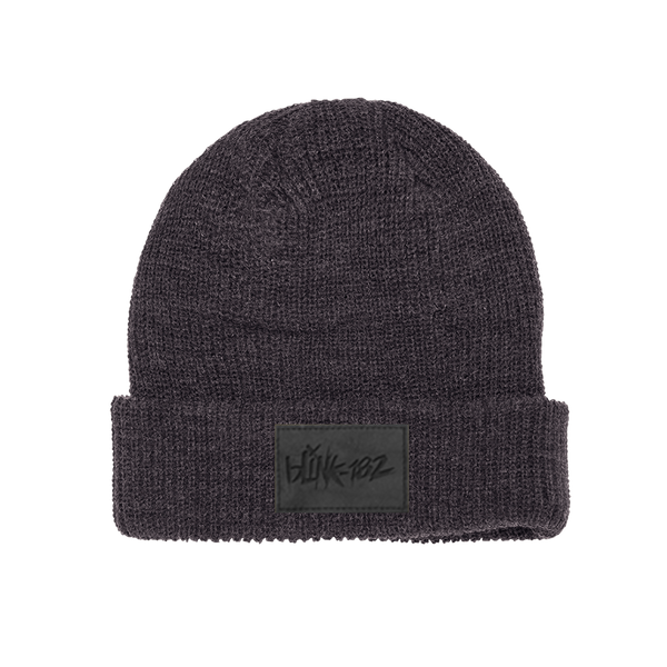 LOGO VEGAN PATCH CHARCOAL BEANIE