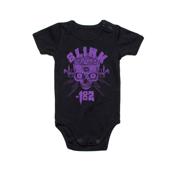 Halloween Purple Skull 2020 Black Baby Onesie