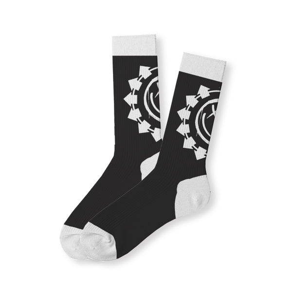 Arrow Smiley Black Socks