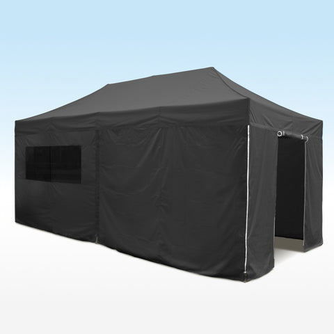 black 6m sidewall kit for heavy duty instant shelters gazebos