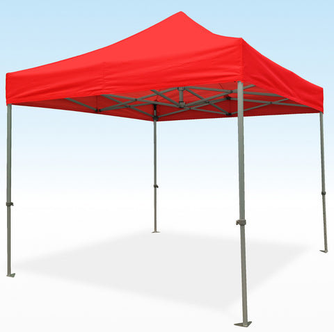 PRO-Marq 50 3m x 3m red heavy duty instant shelter gazebo frame and top