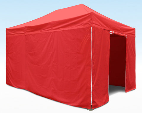 red 4.5m sidewall kit for heavy duty instant shelters gazebos