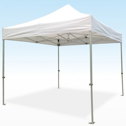 PRO-Marq Steel 3m x 3m White Instant Shelter frame & top