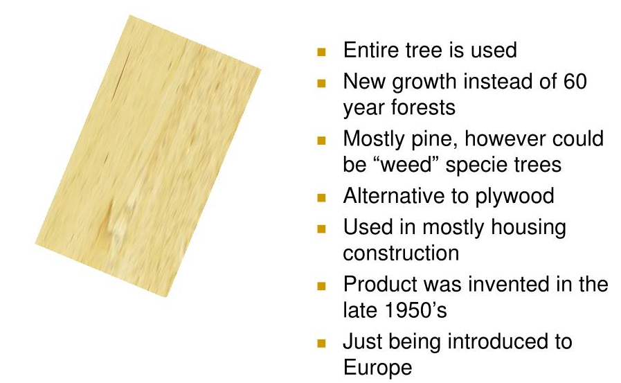How is OSB panel manufactured