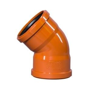 110mm Double Socket 45º Bend - Floplast Drainage