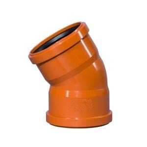 110mm Double Socket 30º Bend - Floplast Drainage