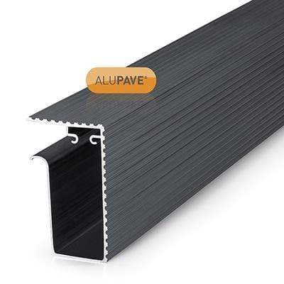 Alupave Fireproof Flat Roof & Decking Side Gutter - All Sizes - Clear Type Flooring