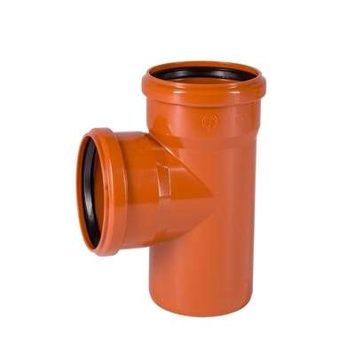110mm Underground Double Socket T Junction - Floplast Drainage
