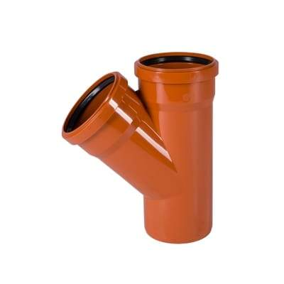 110mm Underground Double Socket Y Junction - Floplast Drainage