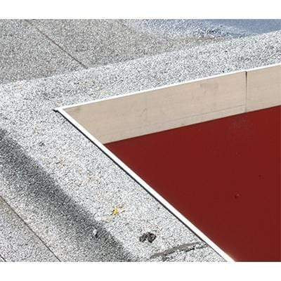 Image of AF5 Aluminium Roof Edge Trim Mill Finish 110mm x 64mm x 3m - Ryno Outdoor & Garden
