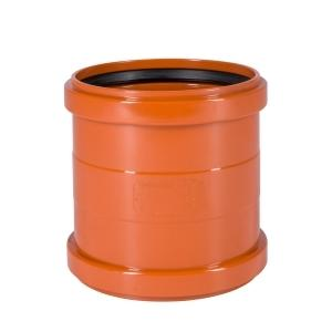 160mm Coupler Double Socket - Floplast Drainage