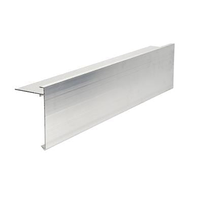 AF5 Aluminium Roof Edge Trim Mill Finish 110mm x 64mm x 3m - Ryno Outdoor & Garden